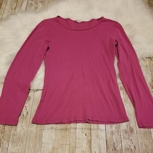 J.crew long sleeve pink tee size M